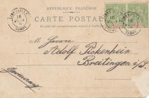French colonies: Gabun Libreville 1905 post cardc to Breitingen
