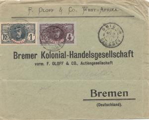 French colonies: Dahomey: 1911: Letter to Bremen