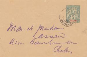 French colonies: Indo-chine 1899: letter to Cholon