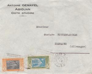 French colonies: Ivory coast: 1936: Abidjan to Iserlohn