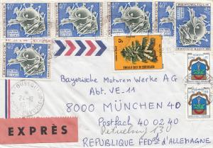 French colonies: Ivory Coast 1975 Express to BMW München