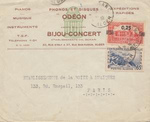 French colonies Algerie 1939 Alger to Paris- Odéon Phonos/Disques