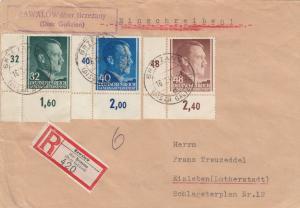 GG: Einschreiben Zawalow/Brzezany nach Eisleben, Eckränder, Einlieferungsschein