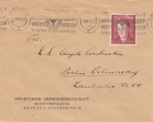 GG: Brief mit EF Bedeutende Deutsche, portogerecht Krakau nach Berlin, Energie