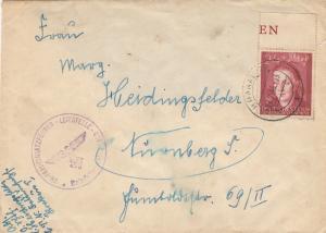 GG: Brief mit EF Bedeutende Deutsche, portogerecht Feldeinsatzleitstelle Krakau