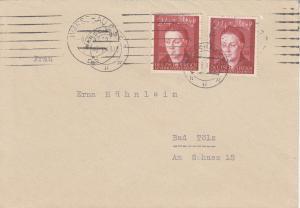 GG: Brief mit MeF Bedeutende Deutsche, portogerecht Warschau-Bad Tölz
