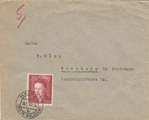GG: Brief mit EF Bedeutende Deutsche, portogerecht Kalusz nach Freiburg