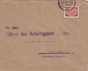GG: Dienst: Brief portogerecht RAD, Reichsarbeitsdienst Krakau  nach Weimar