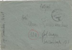 GG: 2./4./5.1.1945, 3x FeldpostNr. 36669 nach Erlangen