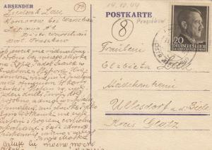 GG: 14.10.1944: Pruszkow nach Ullesdorf/Glatz