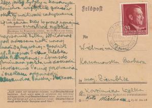 GG: 7.10.44 Postkarte Grodzisk Maz.