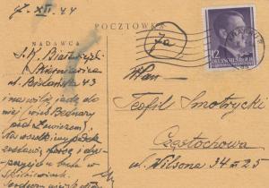 GG: Schriftverkehr 10/44-31.12.44 Tschenstochau/Krakau/Petrikau