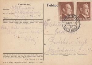 GG: 09./14.12.44 Tschenstochau / Radom, 2 Karten