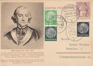 GG poln. Ganzsache als Postkarte Krakau 28.9.39 nach Breslau
