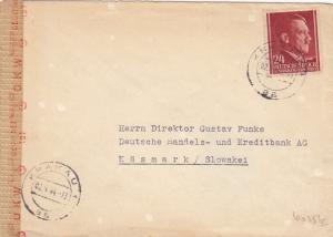 GG Slowakei: Brief mit Inlandsporto nach Käasmark, portogerecht, Zensur
