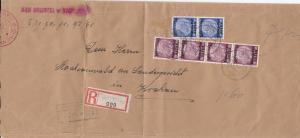 GG Großbrief Streifband Einschreiben Tarnow an Gericht Krakau, hohe Frankataur
