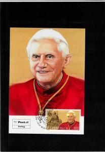 Maximumkarte FDC Papst Benedikt XVI