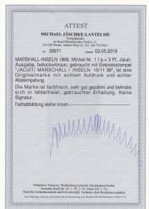 Marschall-Inseln: MiNr. 1 Ia, gestempelt Jaluit, BPP Attest