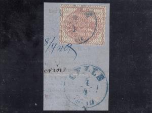 Hannover: MiNr. 8b auf Briefstück, gestempelt Celle, Befund AIEP