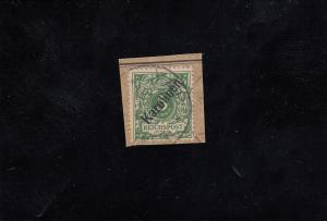 Karolinen: MiNr. 2I, gestempelt auf Briefstückk, BPP Attest