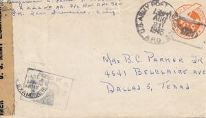 New Guinea 1945: US Army Postal Service, censor to Dallas/Texas