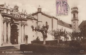 Angola: post card Coimbra/Biliotheca to Offenbach, TAX