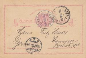 Angola: 1899 post card Loanda to Hannover