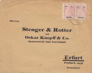 Angola: 1929 Loanda to Erfurt, Gartenbau und Samenzucht