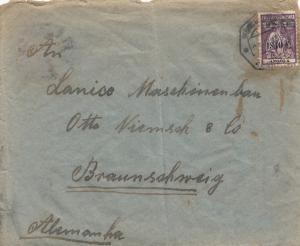 Angola: letter Benguela to Braunschweig