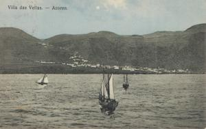 Acores 1910 post card Villa das Vellas to Rochester