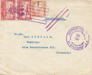 El Salvador 1932: San Salvador air mail to Hamburg
