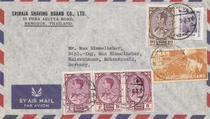 Thailand 1963: air mail Bangkok to Raiersbronn