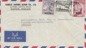 Thailand 1958: air mail Bangkok to Baiersbronn