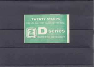 USA Twenty Stamps, Dseries, Domstic rate only, O-108
