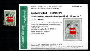 Sudetenland MiNr. 133, postfrisch, **, Reichenberg, Auflage ca. 200 Stück