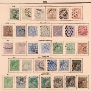 1873-1907 stamp collection: nearly complete, also american Occupation, */o