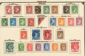Falkland Islands stamp collection 1878-1904, seams to be complete, incl. #7, */o