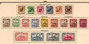 Auslandspostämter: Sammlung China, Togo, Marocco, Türkei, DOA, DSWA, ... */o