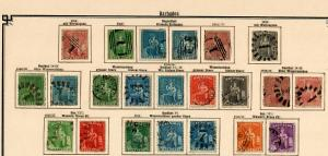 Barbados 1852-1907: nearly complete stamp collection, incl. Stempelmarken, */o
