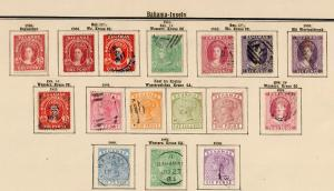 Bahama Islands 1859-1902, nearly complete stamp collection */o
