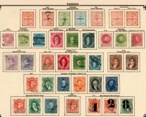 Argentina 1858-1909: nearly complete colletion, specialized overprints, more */o