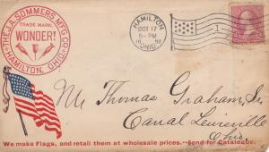 USA 1898: Hamilton, Ohio to Canal Lewisville, Flag producer, Old Glory, ship