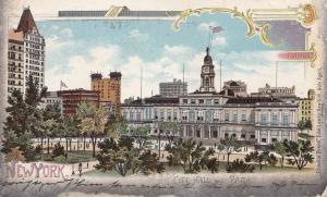 USA 1902: post card New York Brooklyn City Hall to Leipzig/Germany