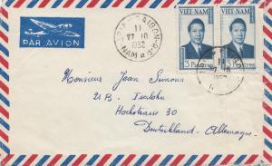 Vietnam 1952: air mail Saigon to Iserlohn