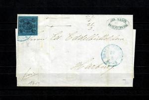 Braunschweig: MiNr. 7A auf Brief von 1855 nach Harburg