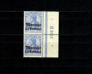 Dt. Post in Marocco MiNr. 37c, Seitenrand UR-HAN, postfrisch **