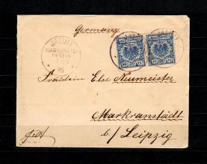 Marshall-Inseln Vorläufer Jaluit 7.10.1895, 2. Gew. Stufe nach Markranstädt, BPP