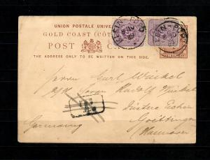 Togo 1889: vor Eröffnung Postagentur, Seltener Frühzeit Beleg