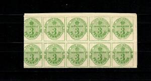 Hannover MiNr. 21x, postfrisch, **, 10er Block, Eckrand