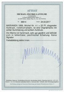 Mariannen MiNr. 4I, postfrisch, ** mit BPP Attest